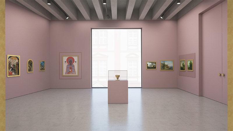Projekt wystawy w Muzeum Książąt Lubomirskich we Wrocławiu. II Nagroda równorzędna: Aleksander Wadas Studio
