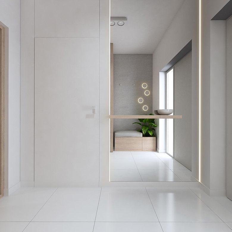 Wnętrza domu w Tarnowie Podgórnym. Projekt: YONO Architecture Sebastian Marach