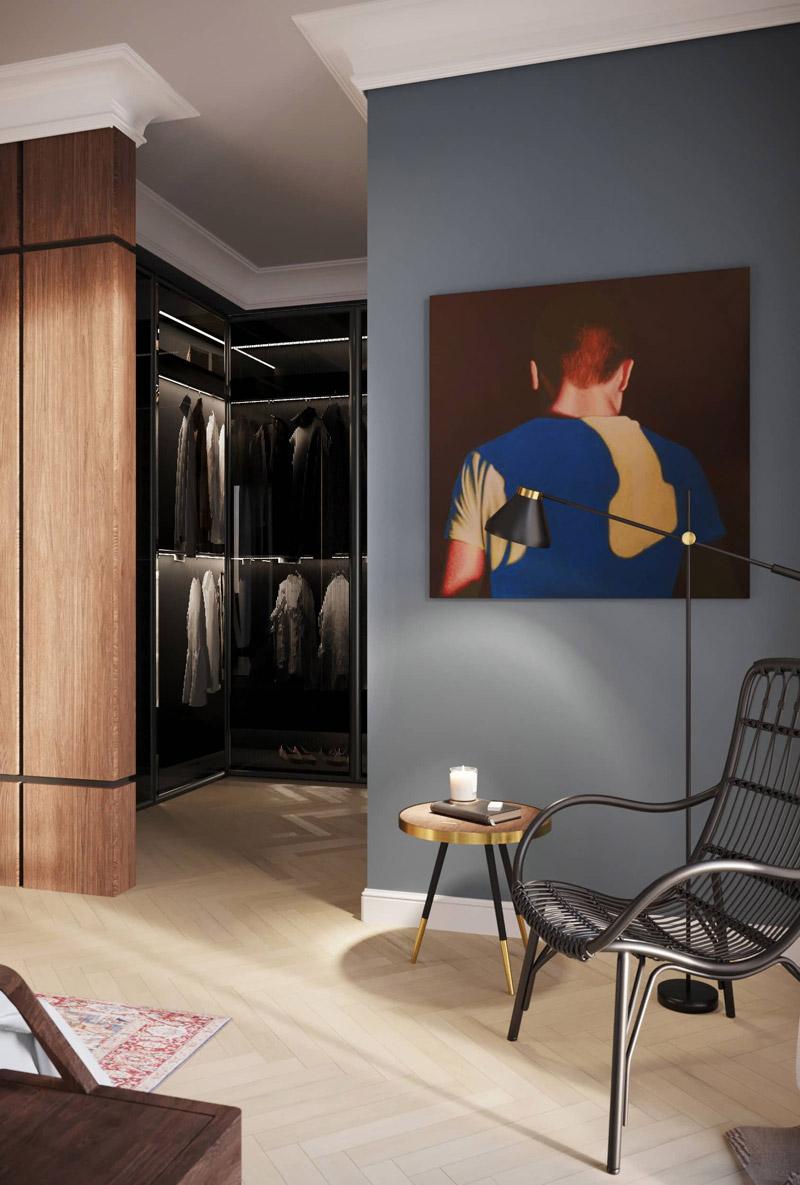 Wnętrza apartamentu w Warszawie. Projekt:Balicka Design