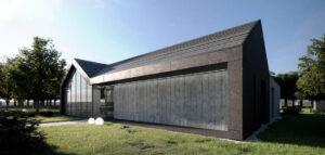 Dom z zielonym patio pracowni KRES Architekci