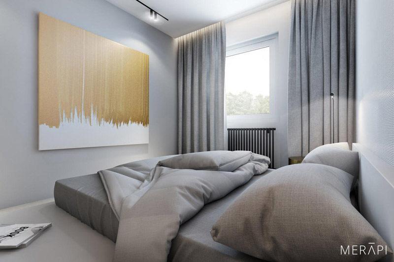Minimalistyczne wnętrza mieszkania. Projekt:Merapi Architects