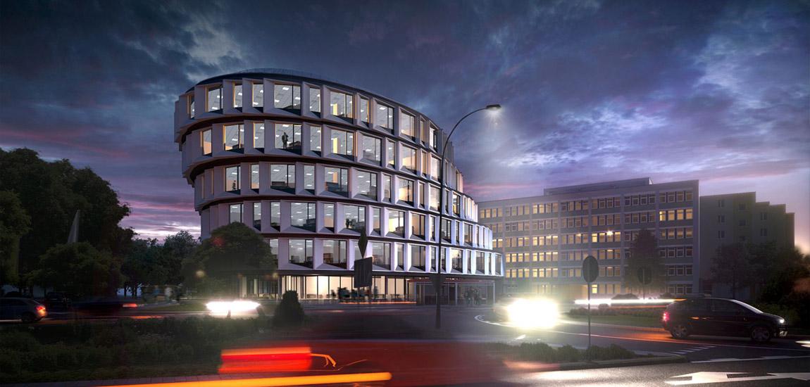 Biurowiec Corner Point, Rzeszów. Projekt:MWM Architekci
