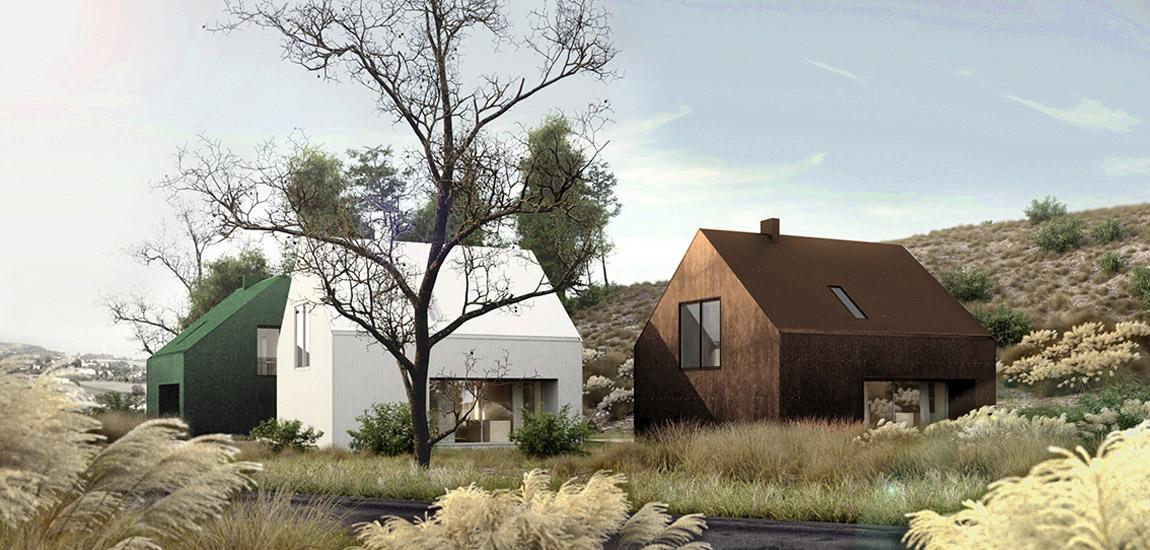 Gotowe projekty domów również mogą być ciekawe. Dom w Kolorze pracowni PAG.