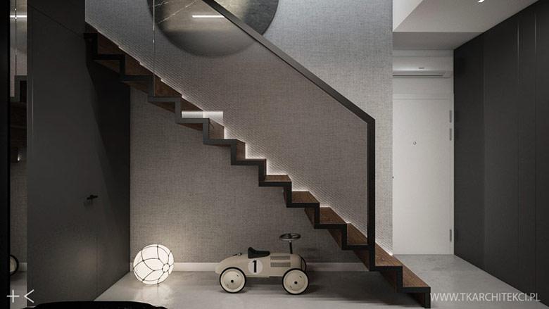 Dwupoziomowy apartament w nowoczesnym stylu. Projekt: TK Architekci