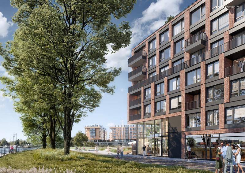 Chlebova Apartamenty, Gdańsk. Projekt: Roark Studio