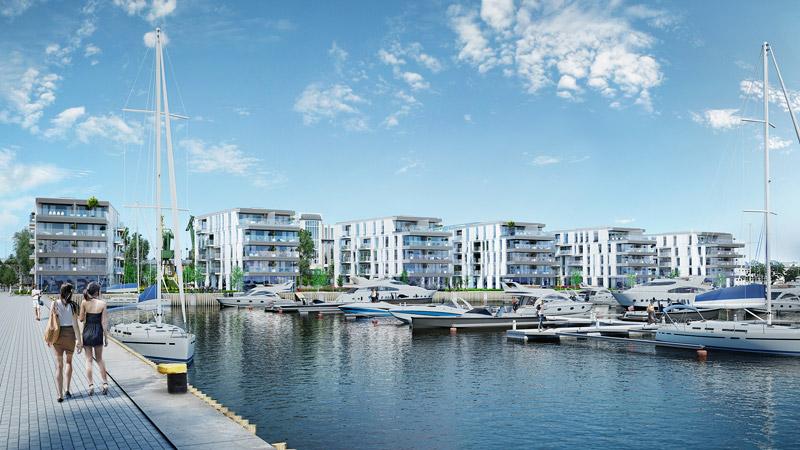 Yacht Park - wizualizacja, Gdynia. Projekt: ARCH-DECO