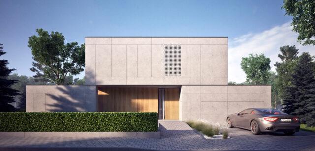 Minimalistyczny dom w Milanówku pracowni Z3Z Architekci