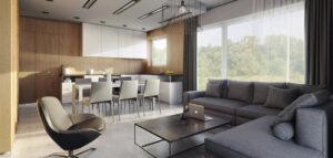 Przytulne mieszkanie z dębowymi okładzinami projektu biura ENDE