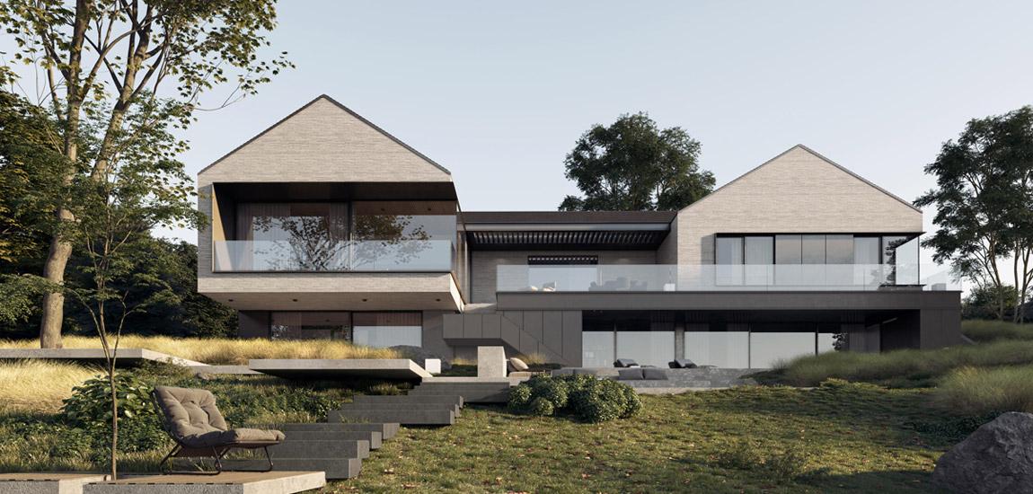 Dom na skarpie pracowni Milwicz Architekci