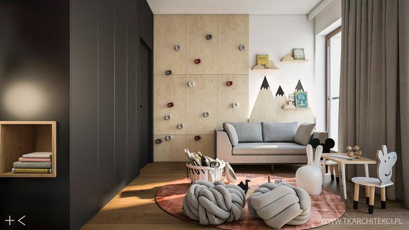 Nowoczesne mieszkanie w loftowymi akcentami. Projekt wnętrz:TK Architekci