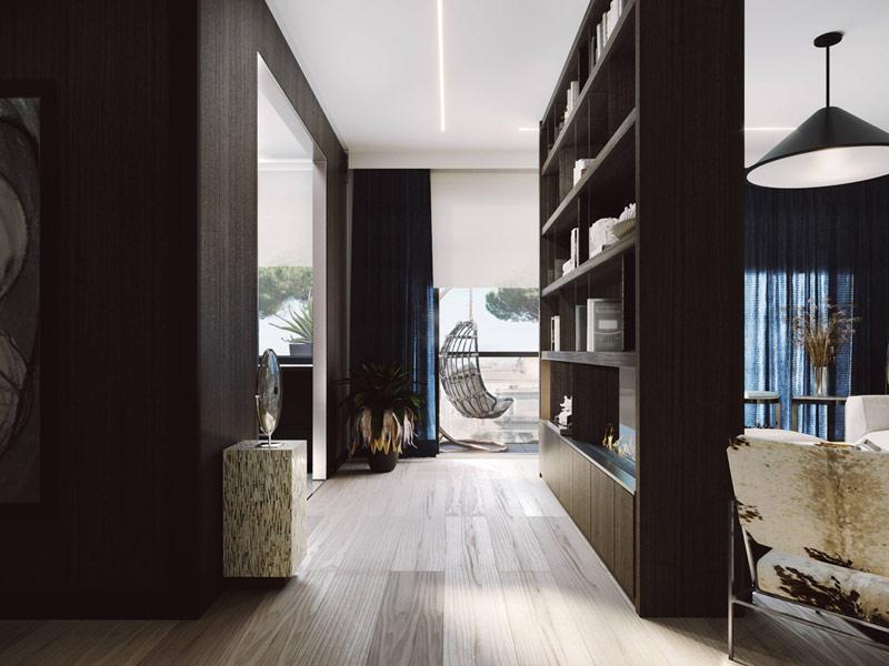Eleganckie mieszkanie w Rzymie. Projekt wnętrz:ZUP-A | Zakład Usług Projektowo-Architektonicznych