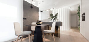 Stylowe wnętrza wypełnione zielenią projektu studia hilight.design