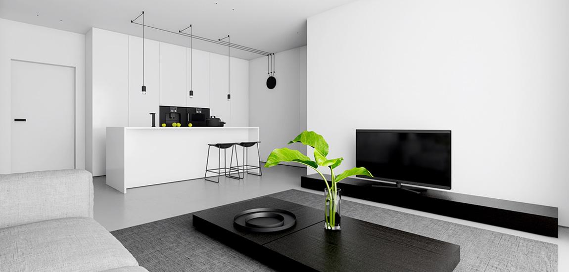 Minimalistyczny apartament w bieli projektu studia INUTI