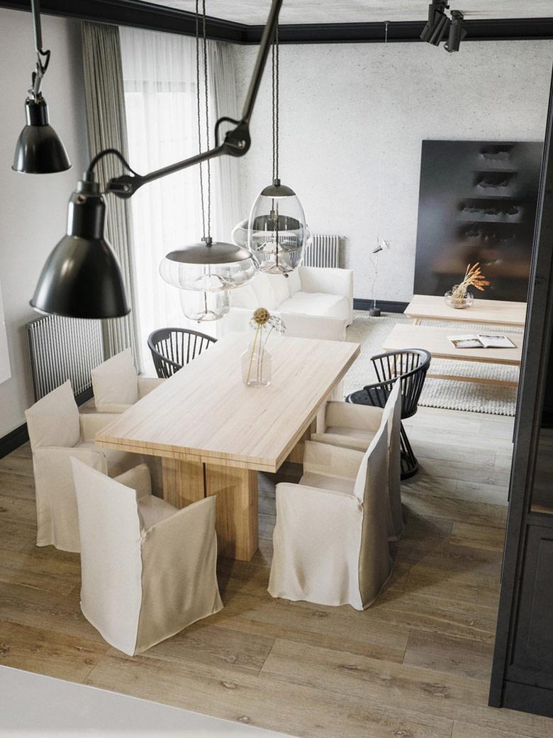 Wnętrza luksusowego apartamentu Projekt:STUDIO.O. organic design. Wizualizacje:Michał Nowak