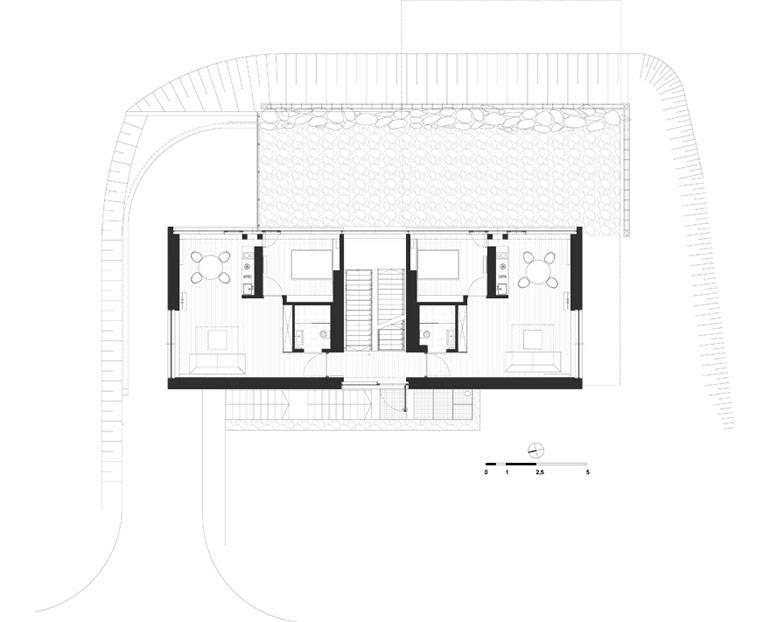 Pensjonaty na Wilczej Porębie, Karpacz. Projekt:studio de.materia