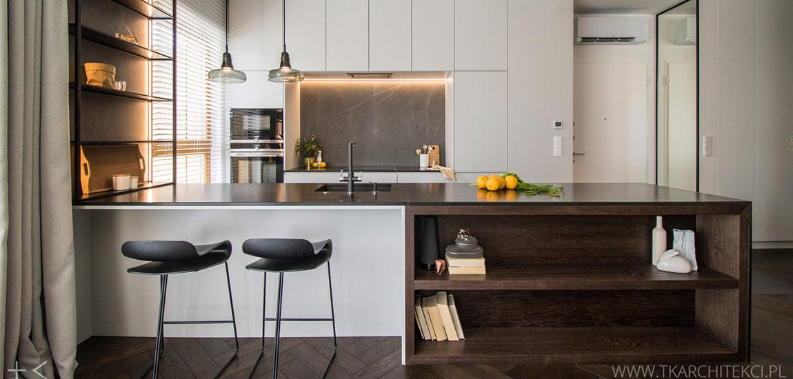 Eleganckie, stumetrowe mieszkanie projektu studia TK Architekci