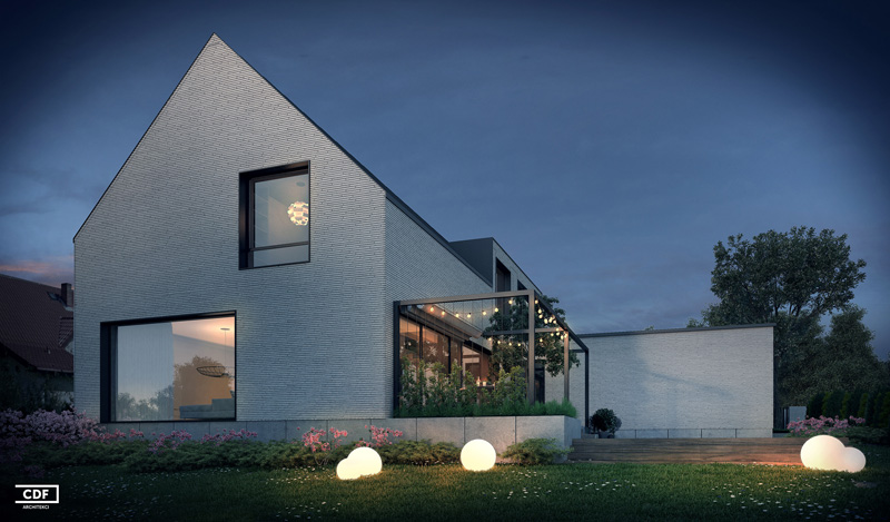 Dom w Suchym Lesie. Projekt: CDF Architekci