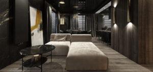 Odważne i pełne kontrastów mieszkanie projektu Otwarte Studio Sztuka