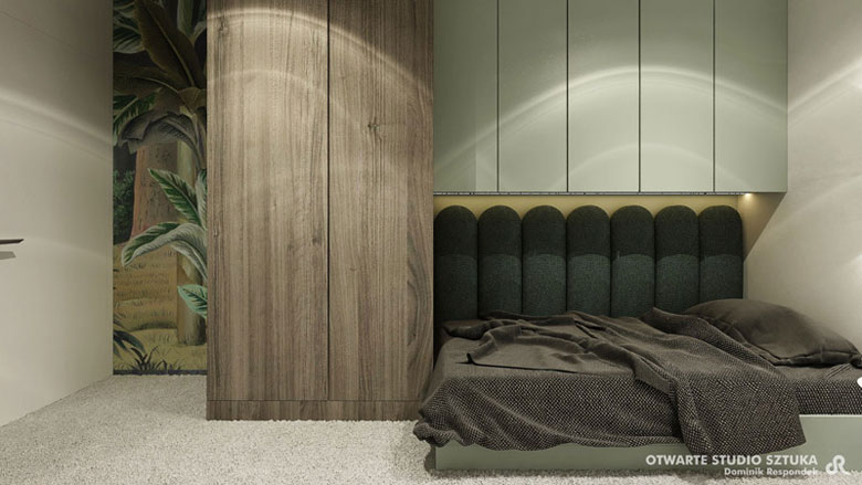"Wnętrza mieszkania ""JO!OH!AH!"". Projekt:OSS – Otwarte Studio Sztuka | Dominik Respondek"