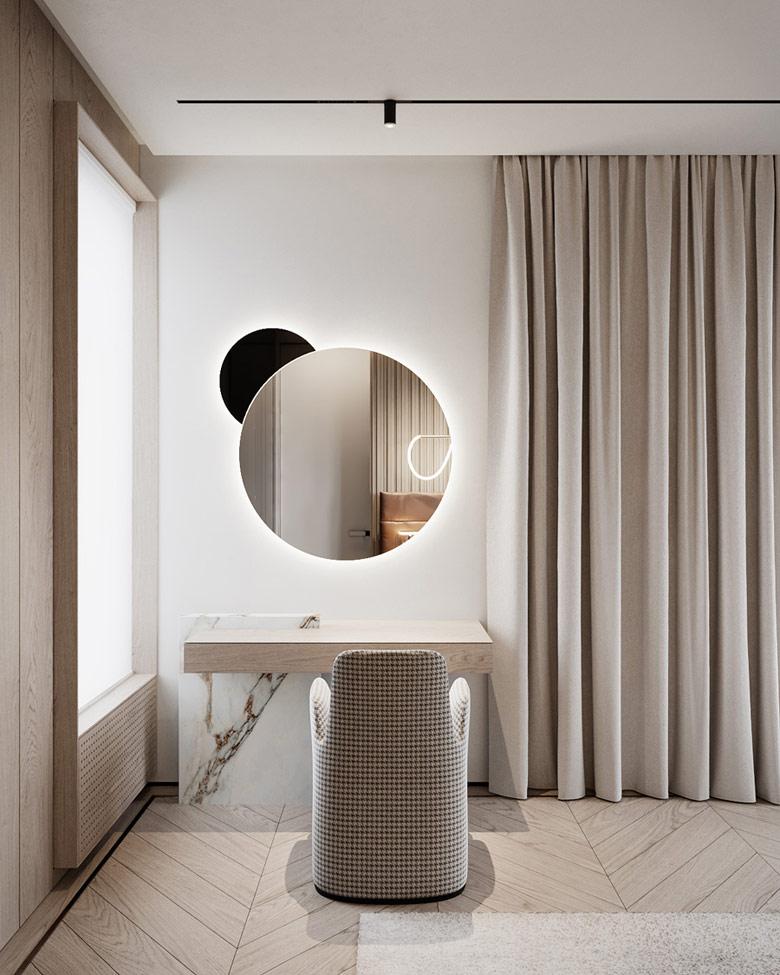 Nowoczesne i eleganckie wnętrza domu w Warszawie. Projekt wnętrz:hilight.design