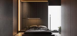 Luksusowy apartament w głębokich, ciemnych tonach. Odważne wnętrza projektu hilight.design