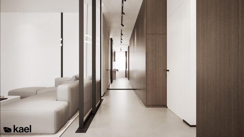 Wnętrza mieszkania w Warszawie. Projekt: KAEL Architekci