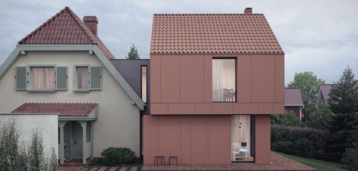 Współczesna i powściągliwa forma domu w zabytkowym otoczeniu