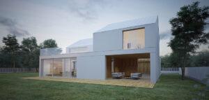 Oszczędny w formie, minimalistyczny dom projektu biura KRUK RASZTAWICKI ARCHITEKCI