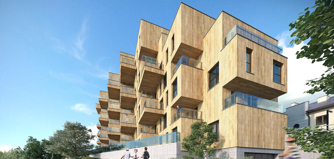 """Budynek mieszkalny """"Wooden House"""", Rzeszów. Projekt:MWM Architekci"""