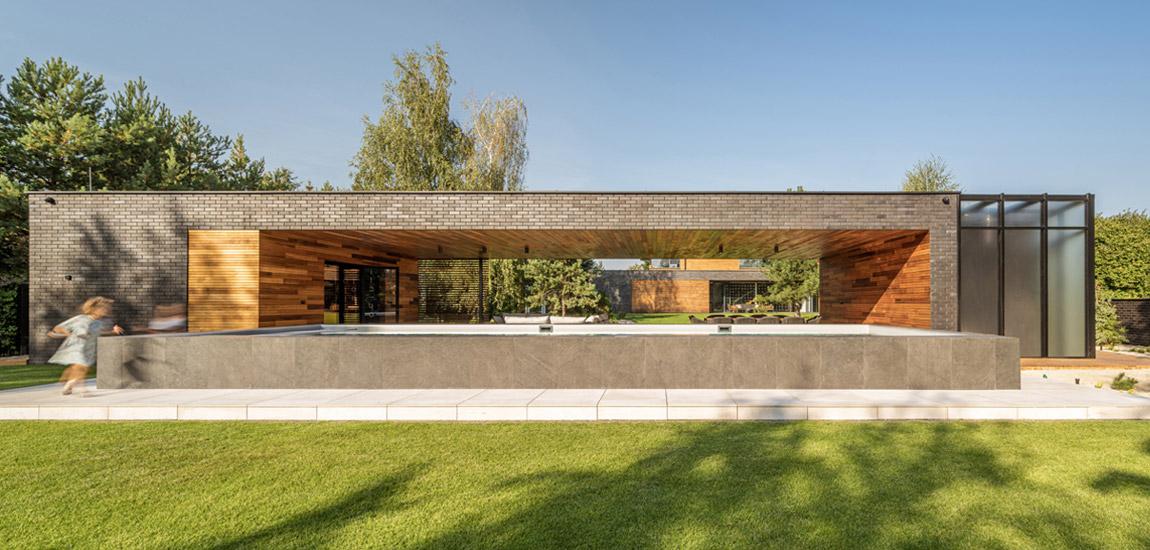 Dom na wsi z efektowną strefą SPA pracowni S3NS Architektura