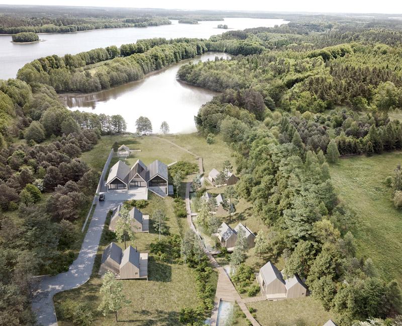 """Siedlisko """"Rezerwat"""" w Łukcie. Projekt:STOPROCENT Architekci"""
