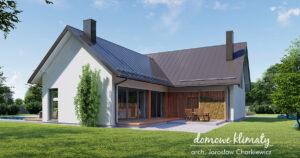 Domy z dużymi tarasami: 5 gotowych projektów domów parterowych z wyjściem na taras