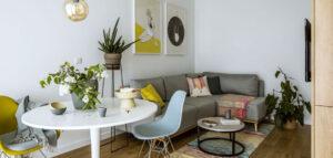 Klimatyczne mieszkanie o małym metrażu projektu Poco Design