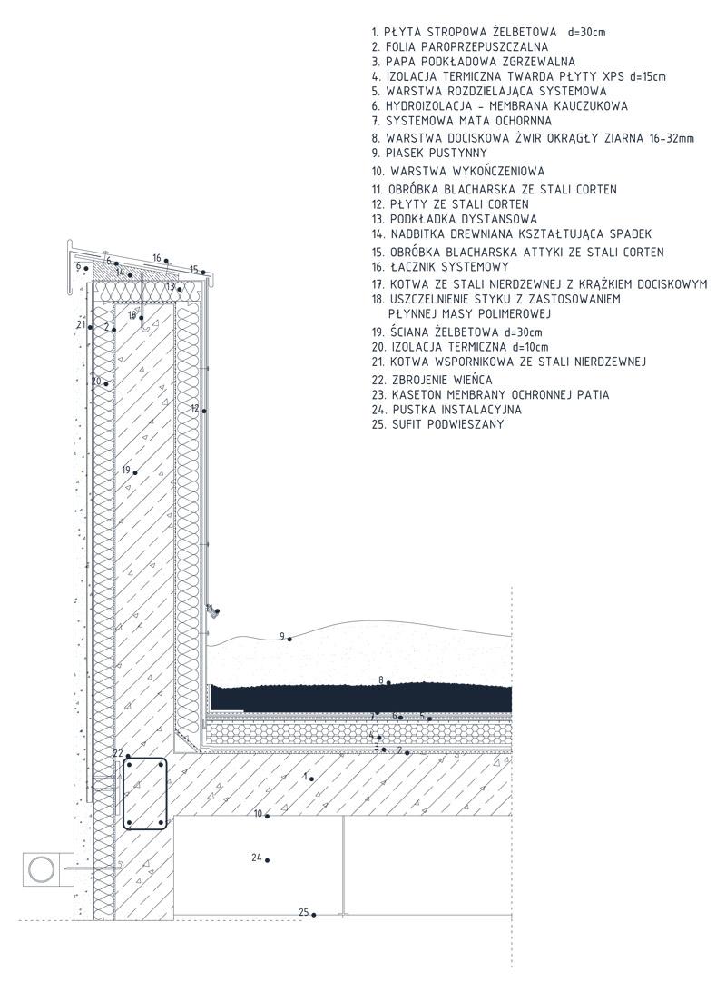 Dyplomy Architektury: Ośrodek badawczy w Jordanii projektu Anny Jarugi-Rozdolskiej