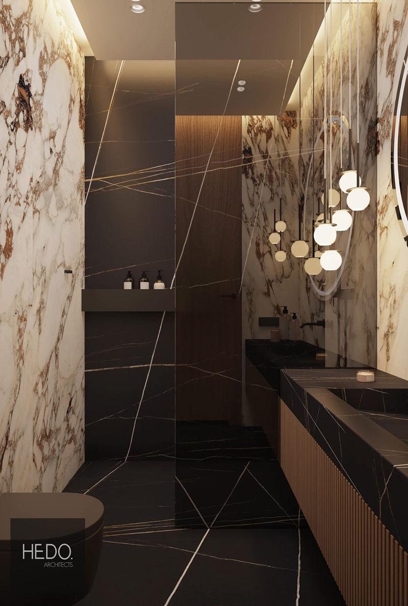 Apartament Supreme. Projekt wnęrz: Hedo Architects