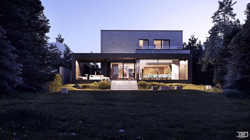 Nowoczesna przebudowa i rozbudowa domu projektu pracowni CDF Architekci