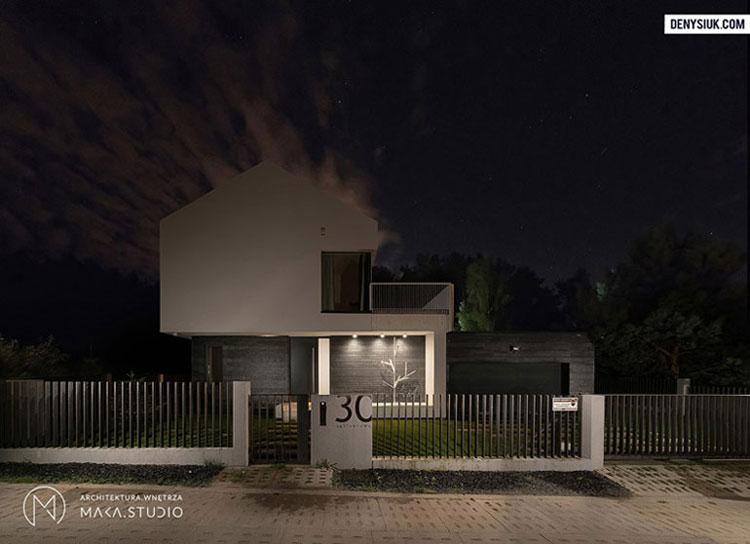 Dom nad morzem. Projekt:MAKA Studio. Zdjęcie: Marcin Denysiuk