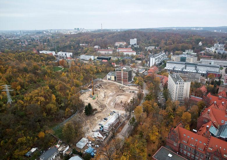 Centrum Kompetencji STOS na Politechnice Gdańskiej. Projekt:Arch-Deco. Zdjęcia z budowy: Rafał Malko