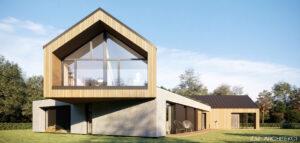 Dom w otoczeniu urokliwego lasu nieopodal jeziora projektu Z3Z ARCHITEKCI