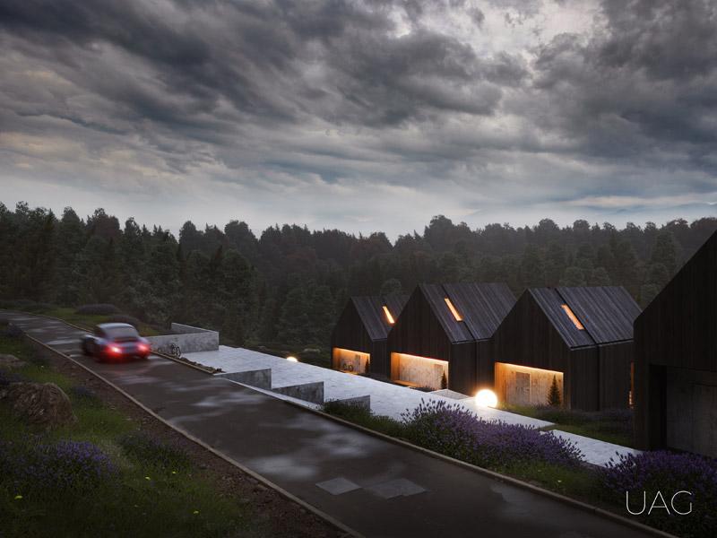 Nowoczesne domki letniskowe w Beskidach Zachodnich. Projekt: UAG Underground Architects Group