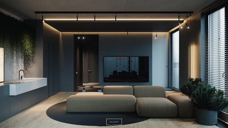 Apartament w Warszawie. Projekt wnętrz: hilight.design