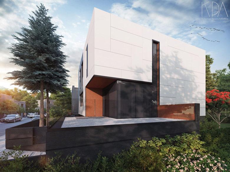 Kostka pod dwoma świerkami. Projekt:KPA Korbasiewicz Pracownia Architektury