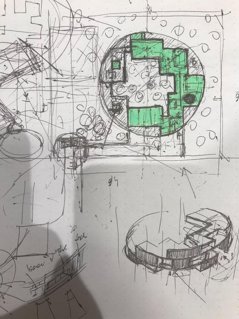 Dom Circle Wood. Projekt:Przemek Olczyk Mobius Architekci.