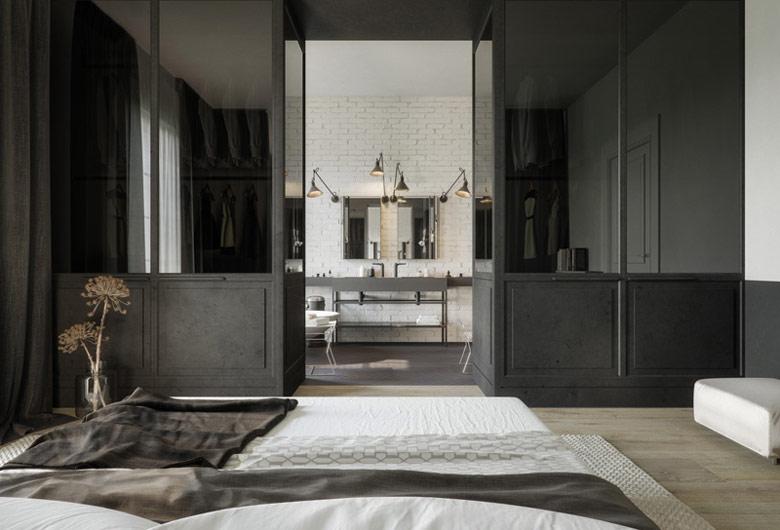 Wnętrza luksusowego apartamentu Projekt: STUDIO.O. organic design. Wizualizacje: Michał Nowak