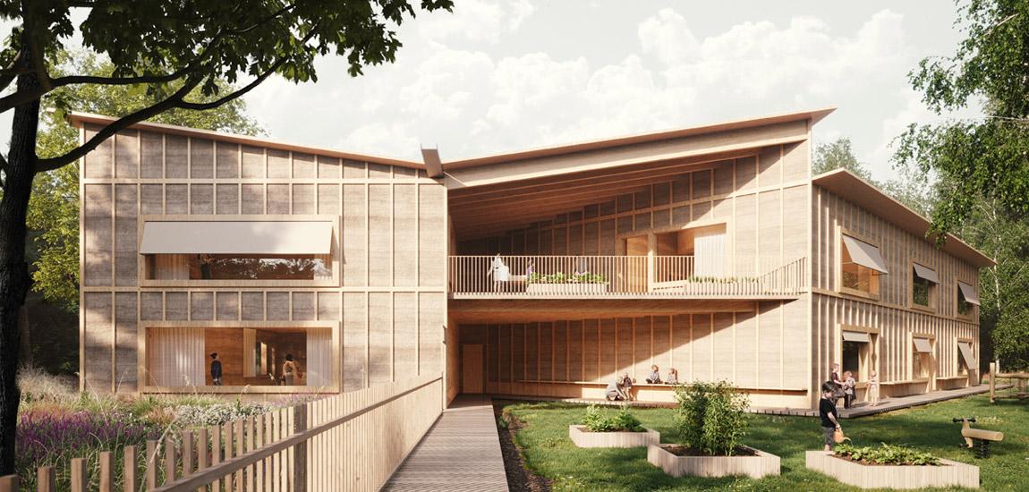 Przedszkole energoefektywne. III miejsce konkursie oraz wyróżnienie:WXCA | Pracownia Architektoniczna