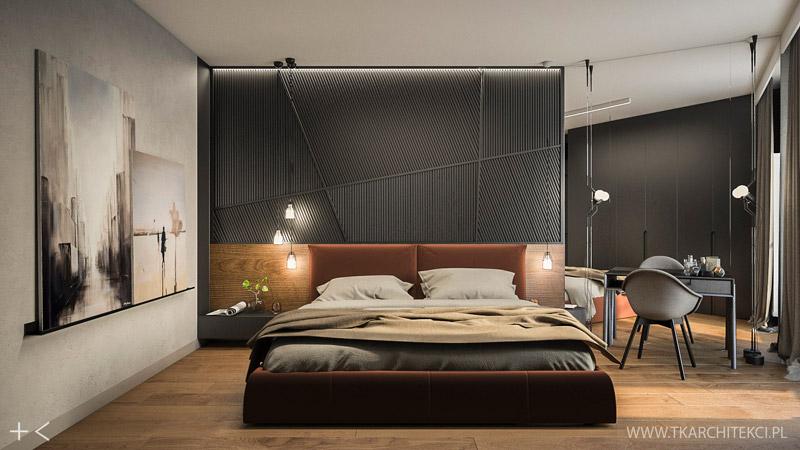 Nowoczesne mieszkanie w loftowymi akcentami. Projekt wnętrz: TK Architekci