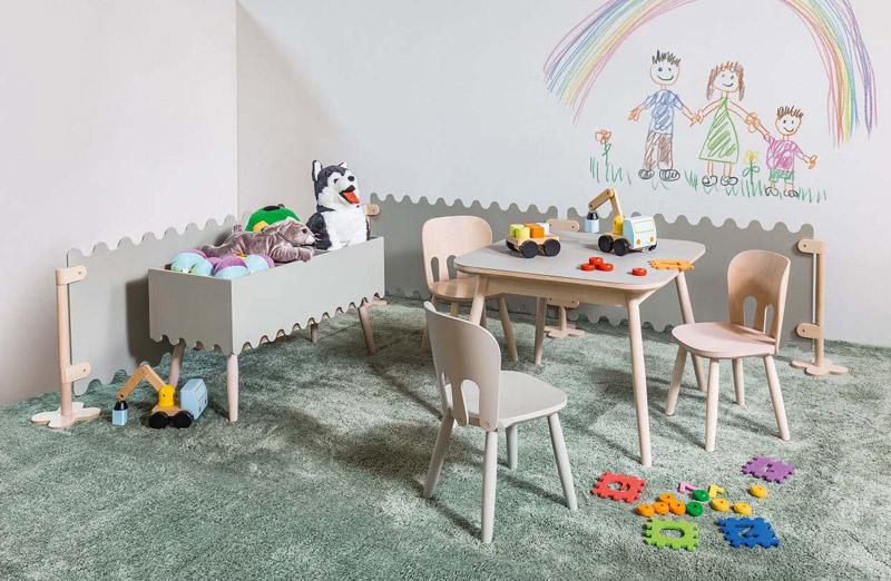 Kolekcja mebli dziecięcych Nino. Projekt MOWO Studio