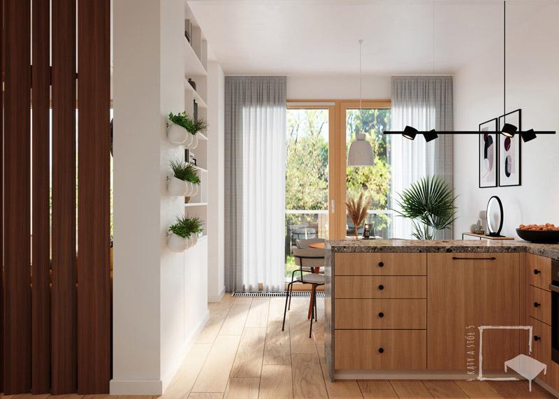 Mieszkanie nr 82 na warszawskiej Woli. Projekt wnętrz: Ewelina Białobrzewska | 4 kąty a stół 5