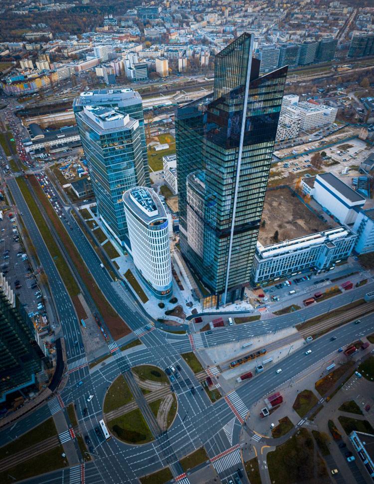 Biurowiec Skyliner w Warszawie. Inwestor: Grupa Karimpol. Projekt: APA Wojciechowski