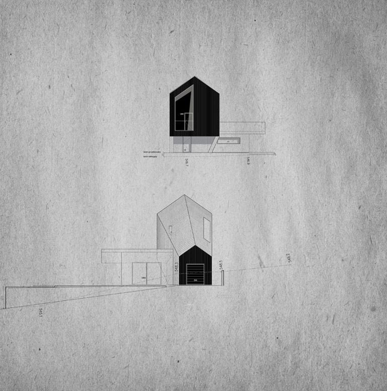 Dom 40i4, Beskid Śląski. Projekt:Autograf Studio   Architekt Marcin Galas, Architekt Tomasz Smuga